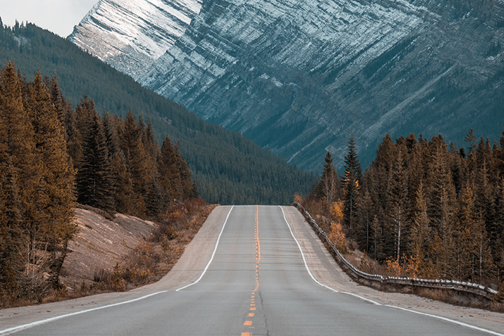 A highway in the mountains