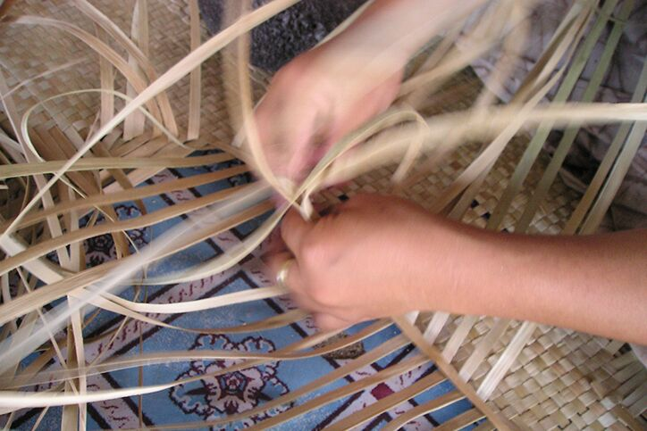 Samoan mat weaving