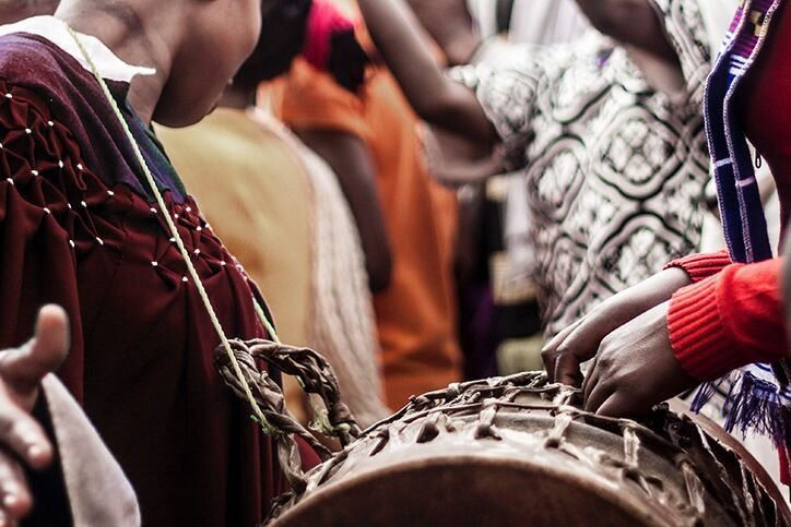 Ghanaian dancing and drums