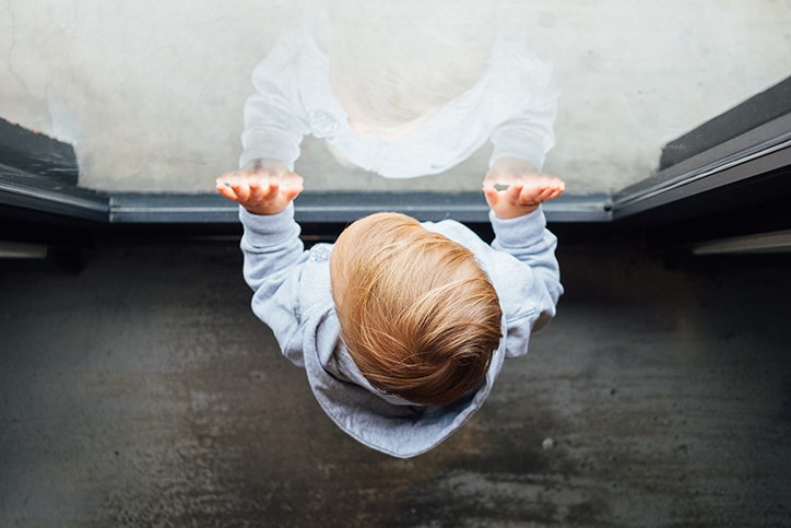 A child looking outside