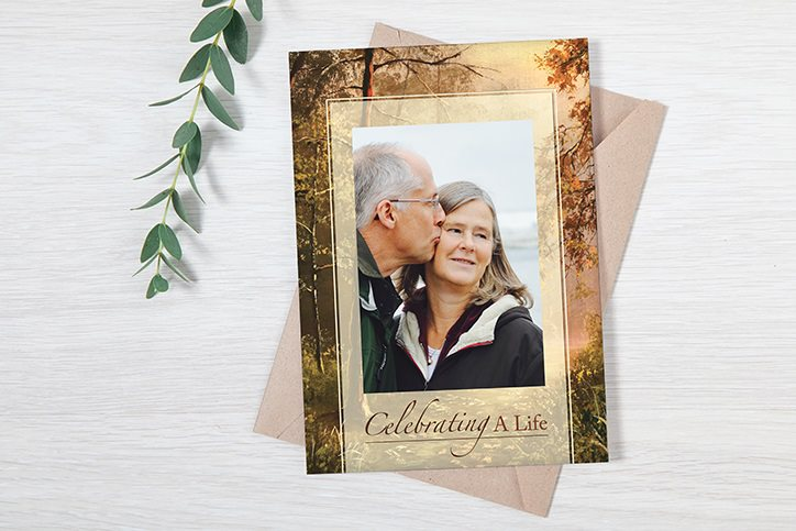 Tribute Center funeral stationery