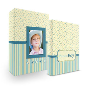 Bookshelf Keepsake Box Register Book - Precious Boy