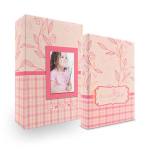 Bookshelf Keepsake Box Register Book - Precious Girl