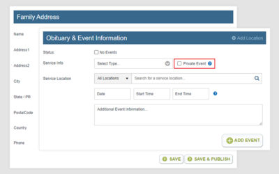New Frazer Admin Panel Feature: Private Event Tool