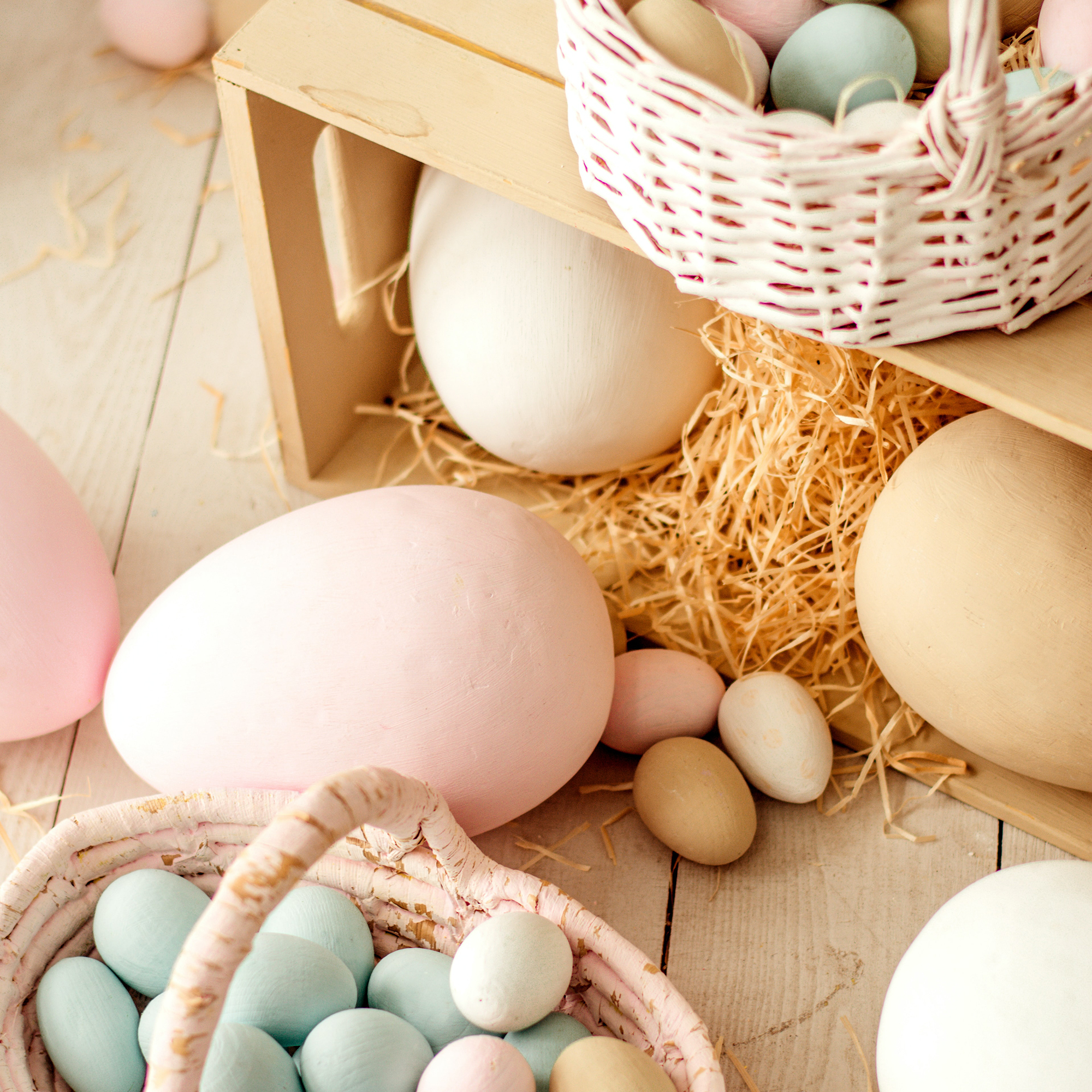 baskets and eggs